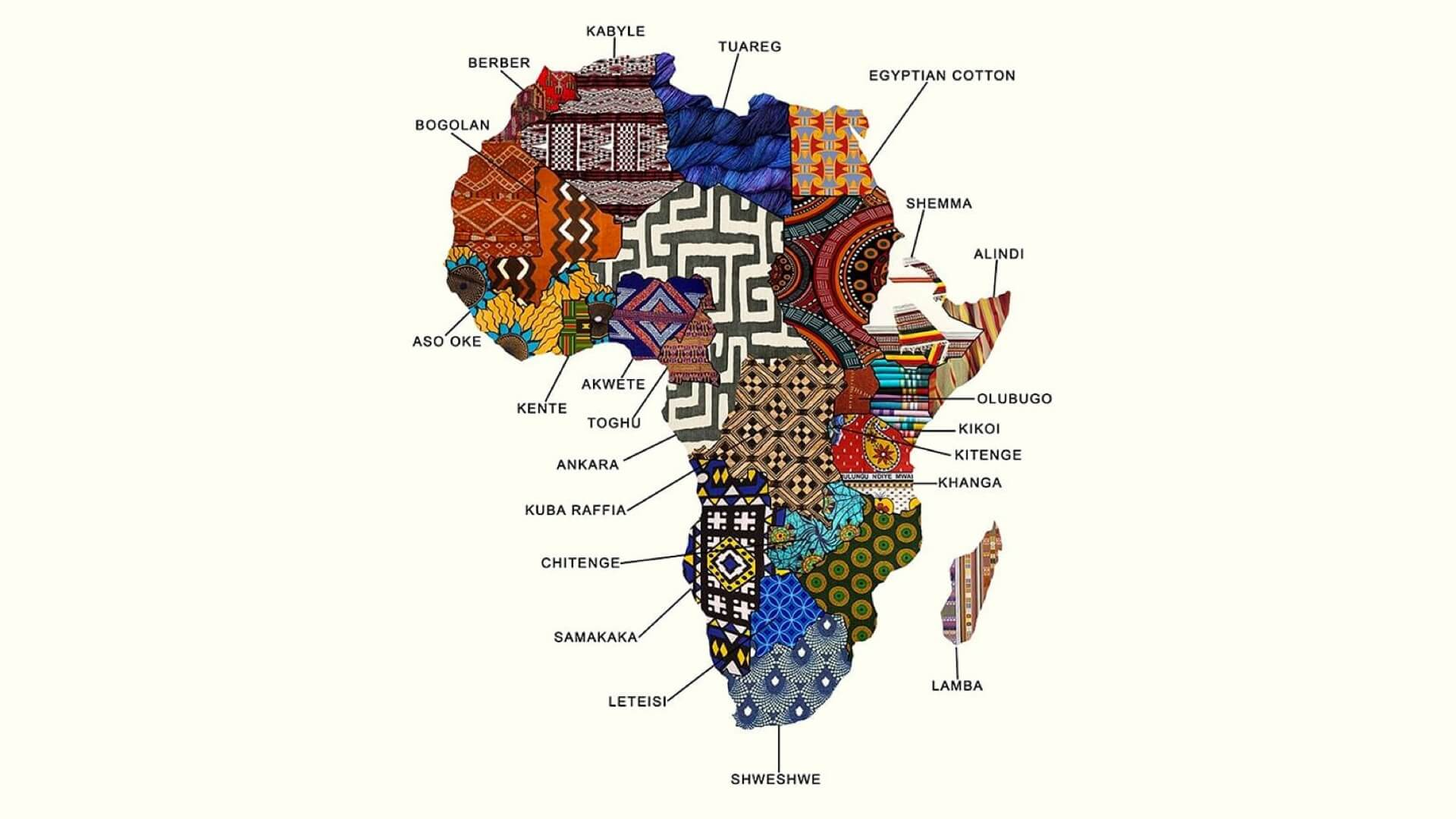 Fabric map of Africa